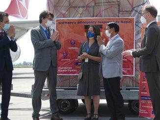 जर्मनीद्वारा नेपाललाई स्वास्थ्य सामाग्री सहयोग